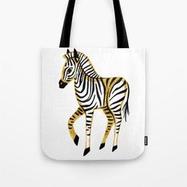 Gold Zebra Tote Bag