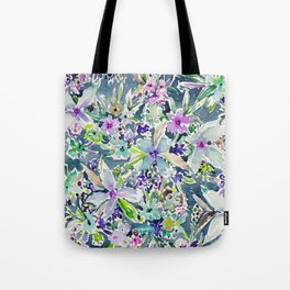 TALIA'S GARDEN Colorful Badass Floral Tote Bag