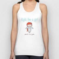 starcraft Tank Tops featuring Fight Like a Girl - Starcraft's Kerrigan by ~ isa ~