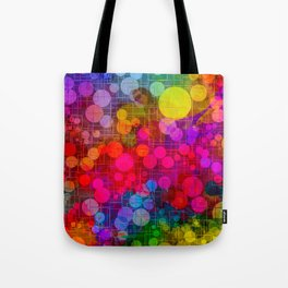 Rainbow Bubbles Abstract Design Tote Bag