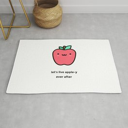 JUST A PUNNY APPLE JOKE! Rug