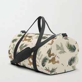 winter deer // repeat pattern Duffle Bag
