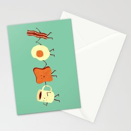 Let's All Go And Have Breakfast Stationery Cards