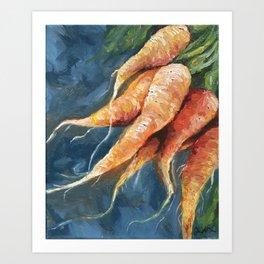 Rustic carrots original oil painting Art Print