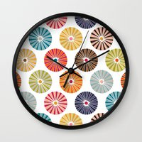 carousel Wall Clocks featuring carousel by Sharon Turner