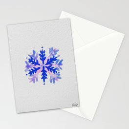 WATERCOLOR SNOWFLAKE 7 - blue and purple palette Stationery Cards