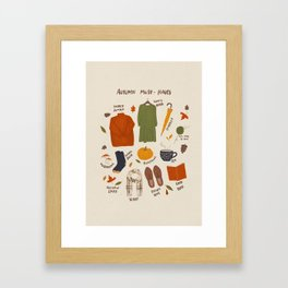Autumn must-haves Framed Art Print