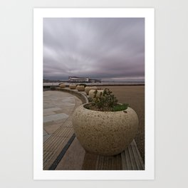 Weston-Super-Mare Seafront View Towards The Grand Pier Art Print