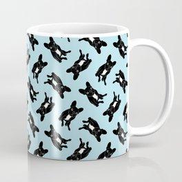 Cute brindle French Bulldog in black and white digital art Coffee Mug