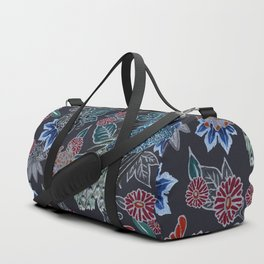 Peacock Floral in Midnight Duffle Bag