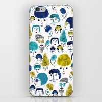 faces iPhone & iPod Skins featuring Faces by Sahily Tallet Yip