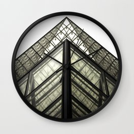 Abstract Louvre Wall Clock