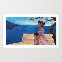 Hermione and Nikostratos Art Print