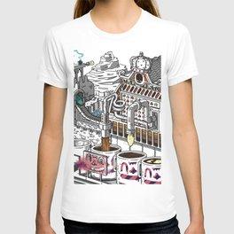"Coffee Machine ""Visual Toy"" Illustration Branding T-shirt"