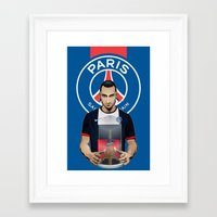 zlatan Framed Art Prints featuring Football Stars: Zlatan Ibrahimovic by Akyanyme