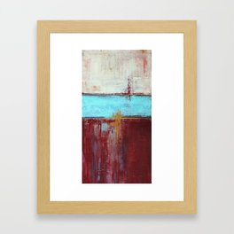 Commandment - Textured Abstract Painting Framed Art Print