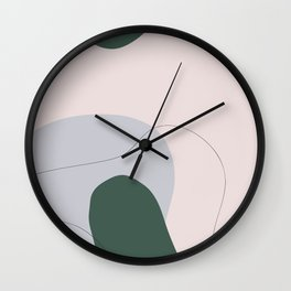Modern Art Flora B Wall Clock