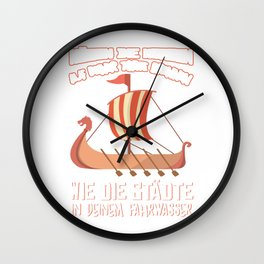 funny viking birthday t shirt for men Wall Clock