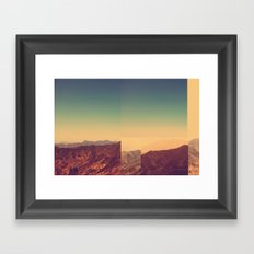 Mountains Clashed Framed Art Print