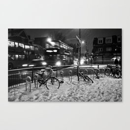Turpike Lane Snow Day Canvas Print
