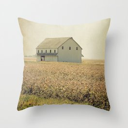 Lost in the prairie Throw Pillow