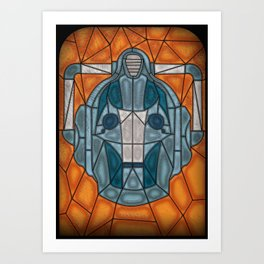 cyberman stained glass Art Print