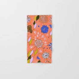 Orange Flower Pattern Hand & Bath Towel