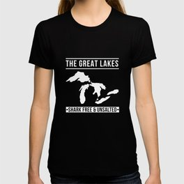 Great Lakes Shark Free and Unsalted T-Shirt Vintage Tee T-shirt