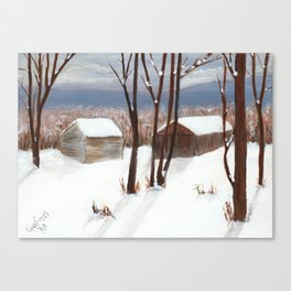 Barns of Rensselaer County Canvas Print