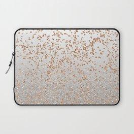 Glitter sparkle mix - rose gold & silver Laptop Sleeve