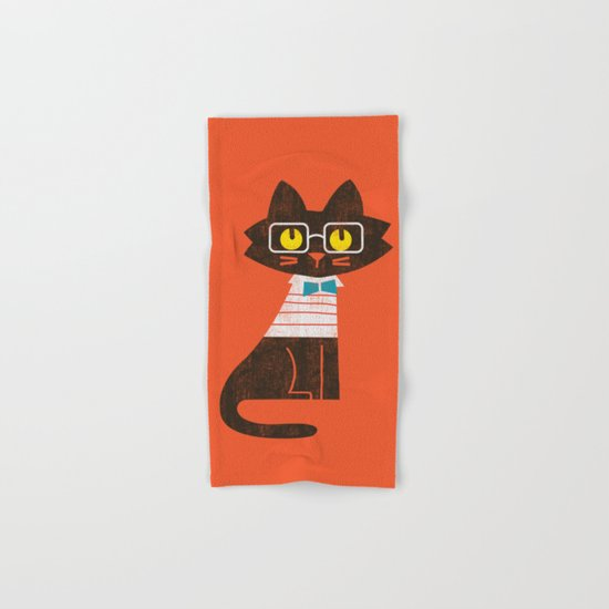 Fitz - Preppy cat Hand & Bath Towel