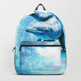 dolphin blue fantasy Backpack