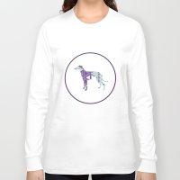 greyhound Long Sleeve T-shirts featuring Greyhound Geometri by Simon Alenius