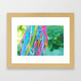 Rainbow Streamers Framed Art Print