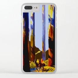 Vintage Australia Travel - Tallest Trees Clear iPhone Case