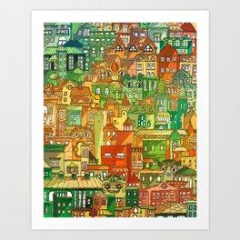 Housing District Art Print