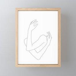 Crossed arms illustration - Jill Framed Mini Art Print