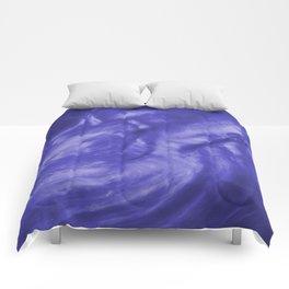 Flowing Deep Purple Pearlescent Haze Fluid Art Illustration Comforters