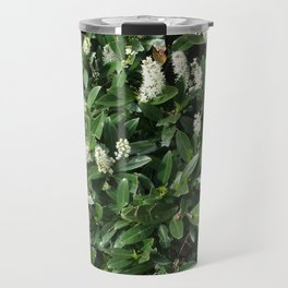 green/white Travel Mug