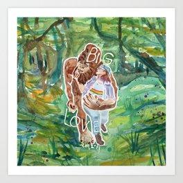 Big Foot, Big Love Art Print