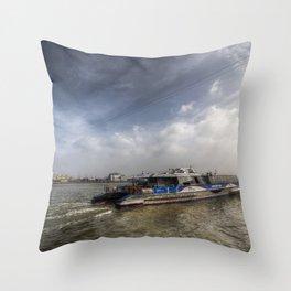 Thames Clipper  Throw Pillow