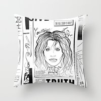 scandal Throw Pillows featuring Courtney Scandal by CLSNYC