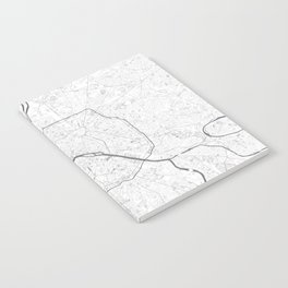 The Map of Paris Line Drawing Notebook
