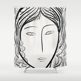 Black and white portrait by Emmanuel Signorino Shower Curtain
