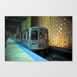 A blue line train to Forrest Park Canvas Print