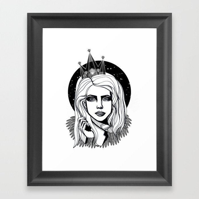 Queen of the night Framed Art Print