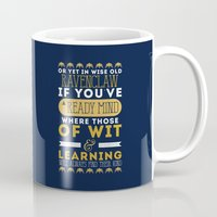 ravenclaw Mugs featuring Ravenclaw by Dorothy Leigh