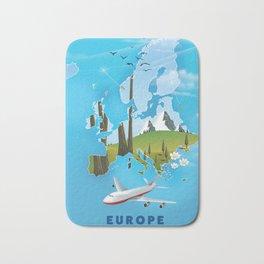Europe Map Bath Mat