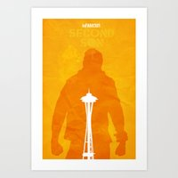 infamous Art Prints featuring Infamous-In-Seattle by FelixT