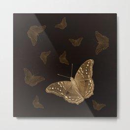 Butterflies in the dark Metal Print